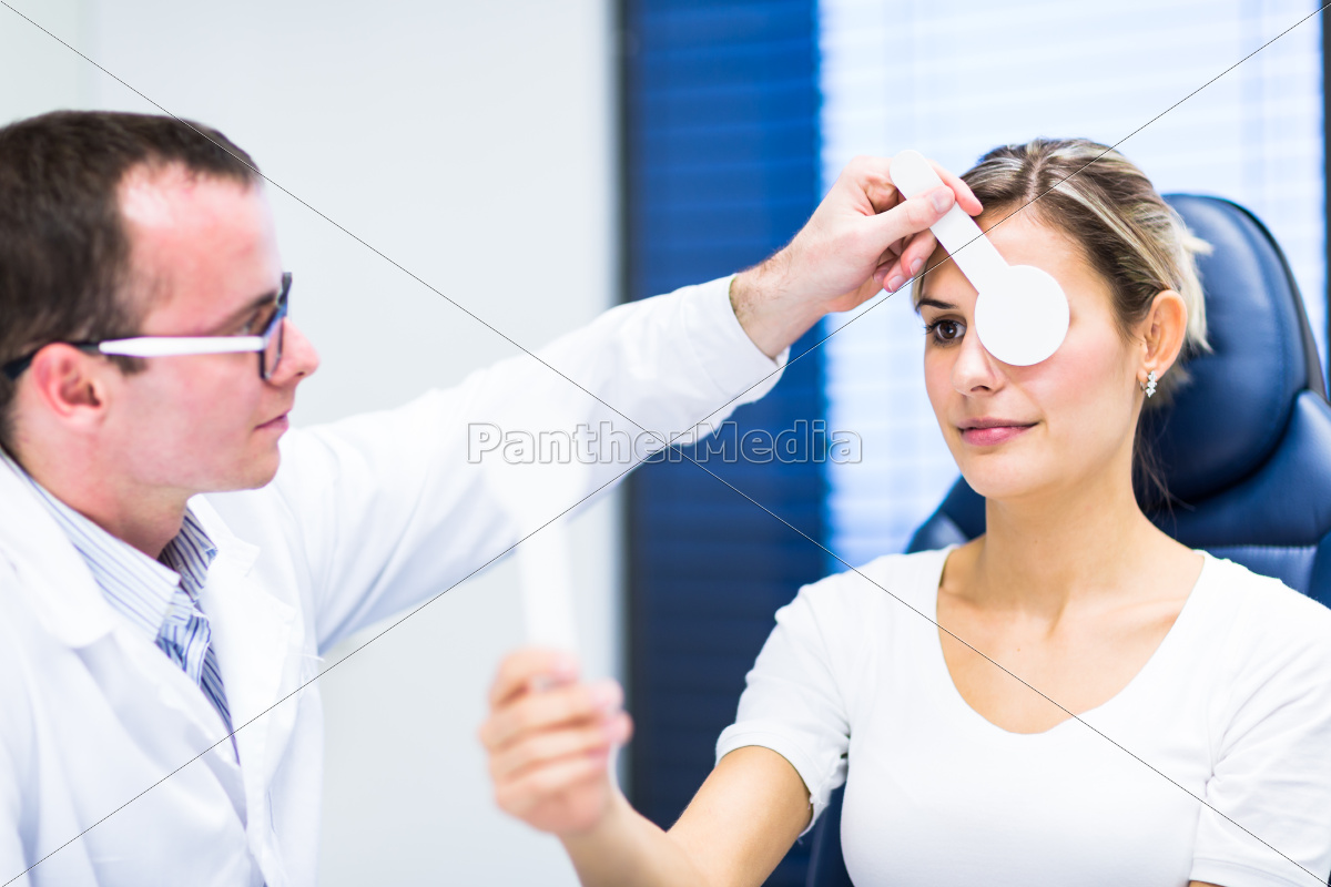 optometry, concept, -, pretty, young, woman - 10148137