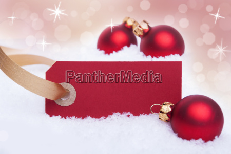 red label as christmas background