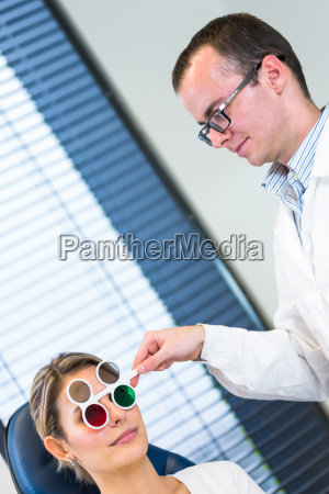 optometry concept pretty young woman