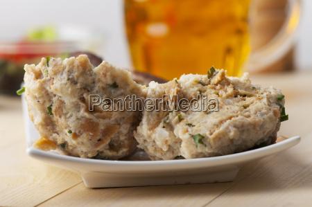 closeup of a bread dumpling