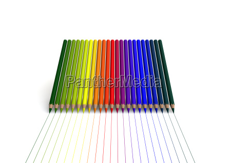 crayons with linear color trace