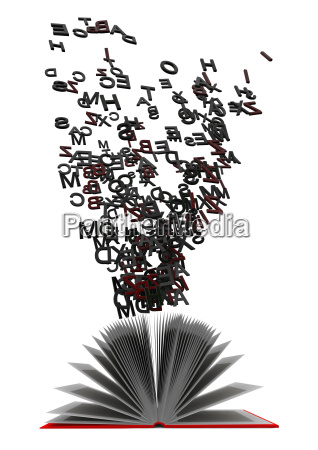 book, with, flying, letters - 10159159