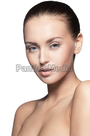 portrait of beautiful young model over