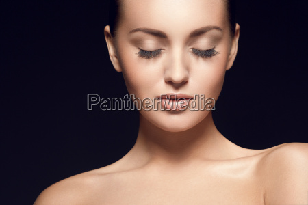 portrait of beautiful young model with