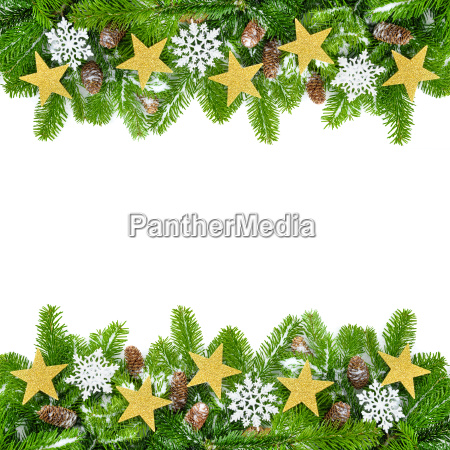 frame decorated fir branches