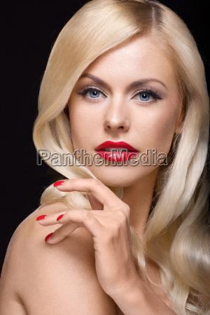 close, up, studio, portrait, of, stylish - 10160401