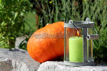 windlight with pumpkin