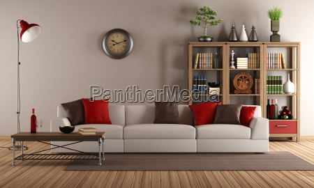 modern, sofa, in, a, vintage, living - 10162435
