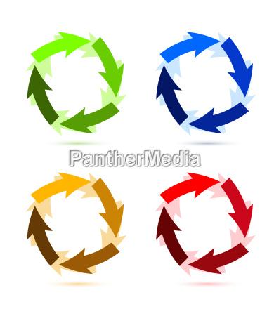 a, colourful, circular, arrow, illustration - 10165753