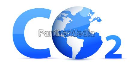 chemical, symbol, co2, for, carbon, dioxide - 10165783