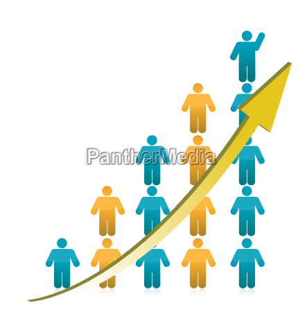 people, graph, showing, growth, illustration - 10165865