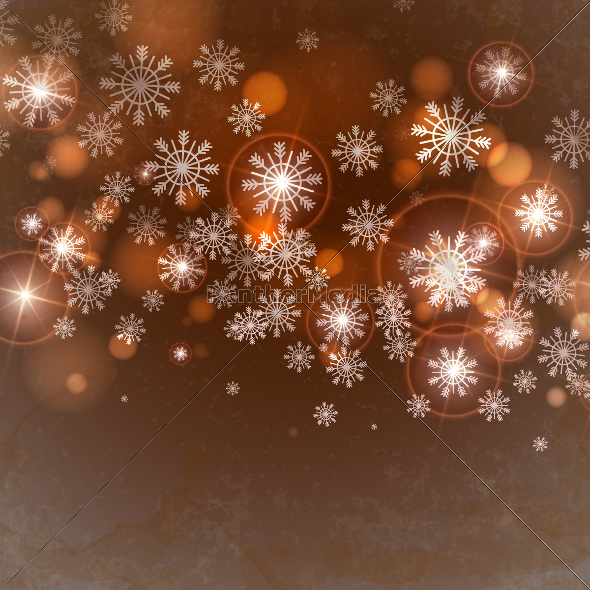brown, background, with, snowflakes. - 10169607