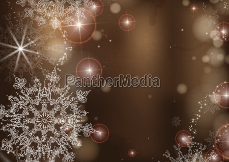 brown, background, with, snowflakes. - 10170279