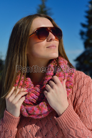 happy, woman, at, winter - 10173199