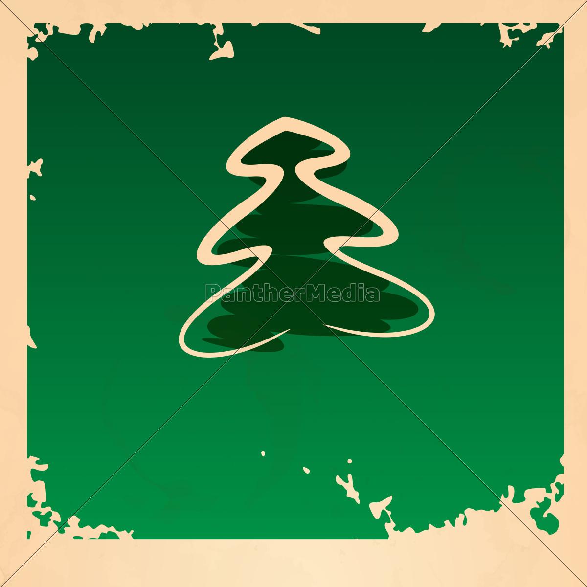 retro, christmas, tree. - 10175567