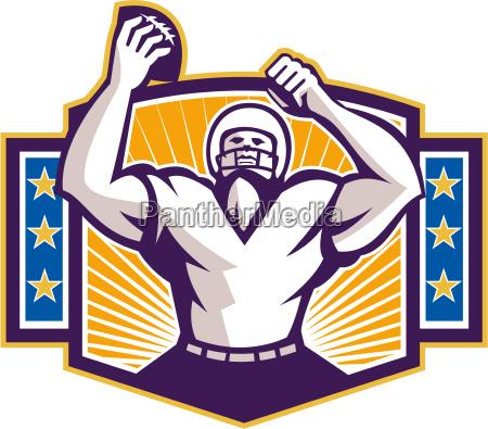 gridiron football player touchdown