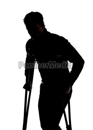 man, with, broken, leg - 10183947