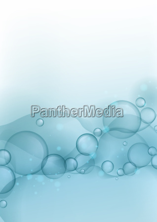 blue glowing bubbles background