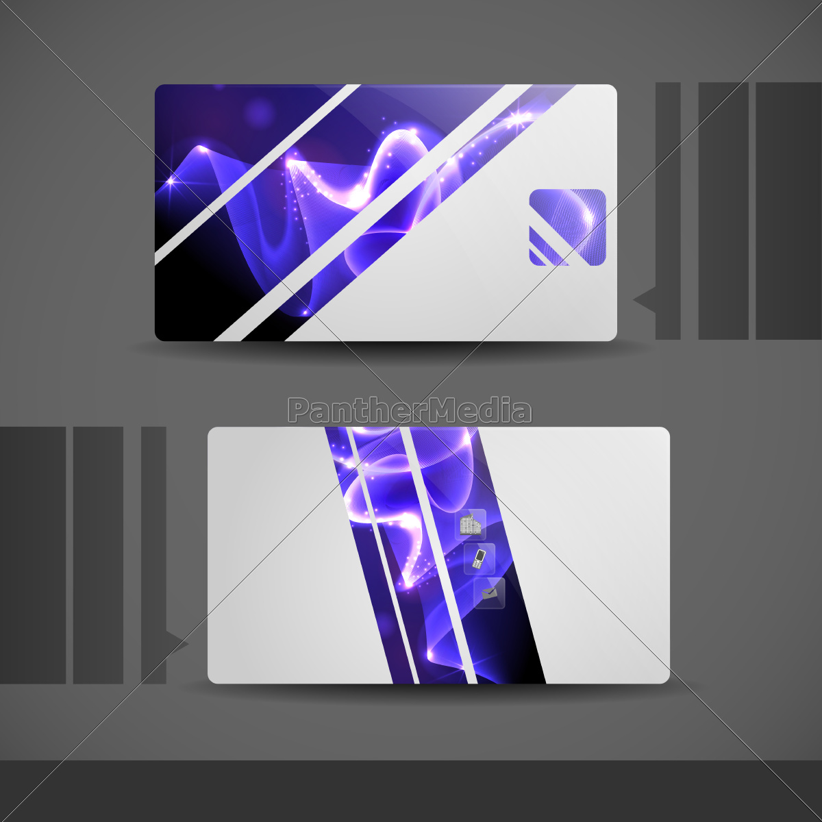 blue, modern, business, card. - 10186763