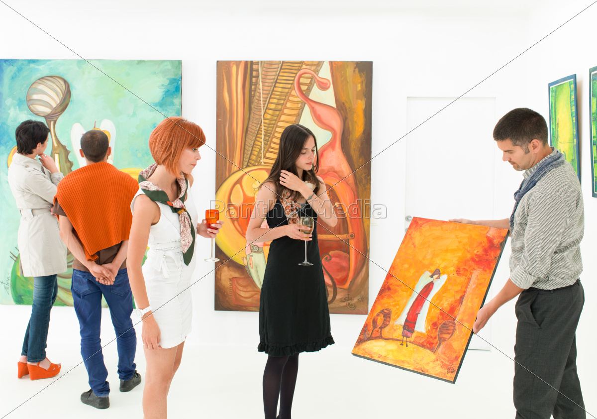 art, collectors, at, exhibition, opening - 10188785