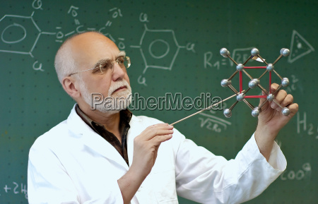 laboratory staff shows molecules