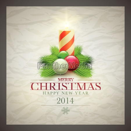 greeting, candle, card, christmas, vector, xmas - 10199165