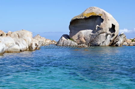 rock formation on the isola giardinelli