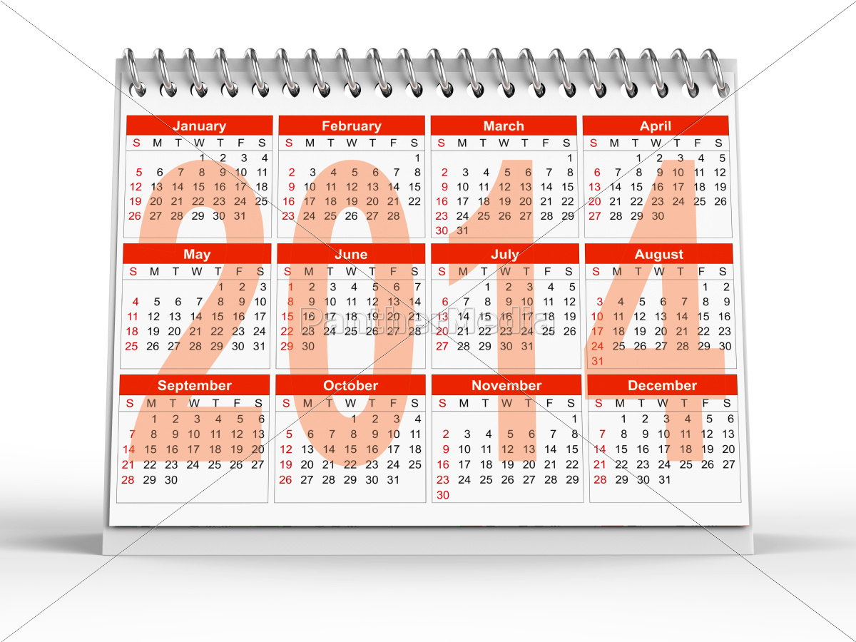 2014, desk, calendar - 10201379