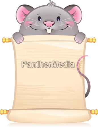 rat with scroll symbol of