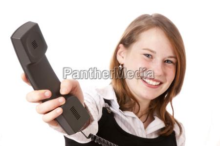 girl on the phone with fun