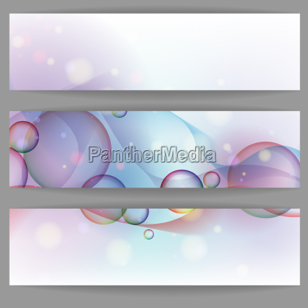 colorful glowing bubbles banner