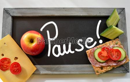 pause, blackboard, school, breakfast - 10211273