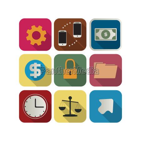 business, icon, set, 6 - 10212391