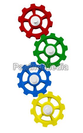 colorful gear concept 2