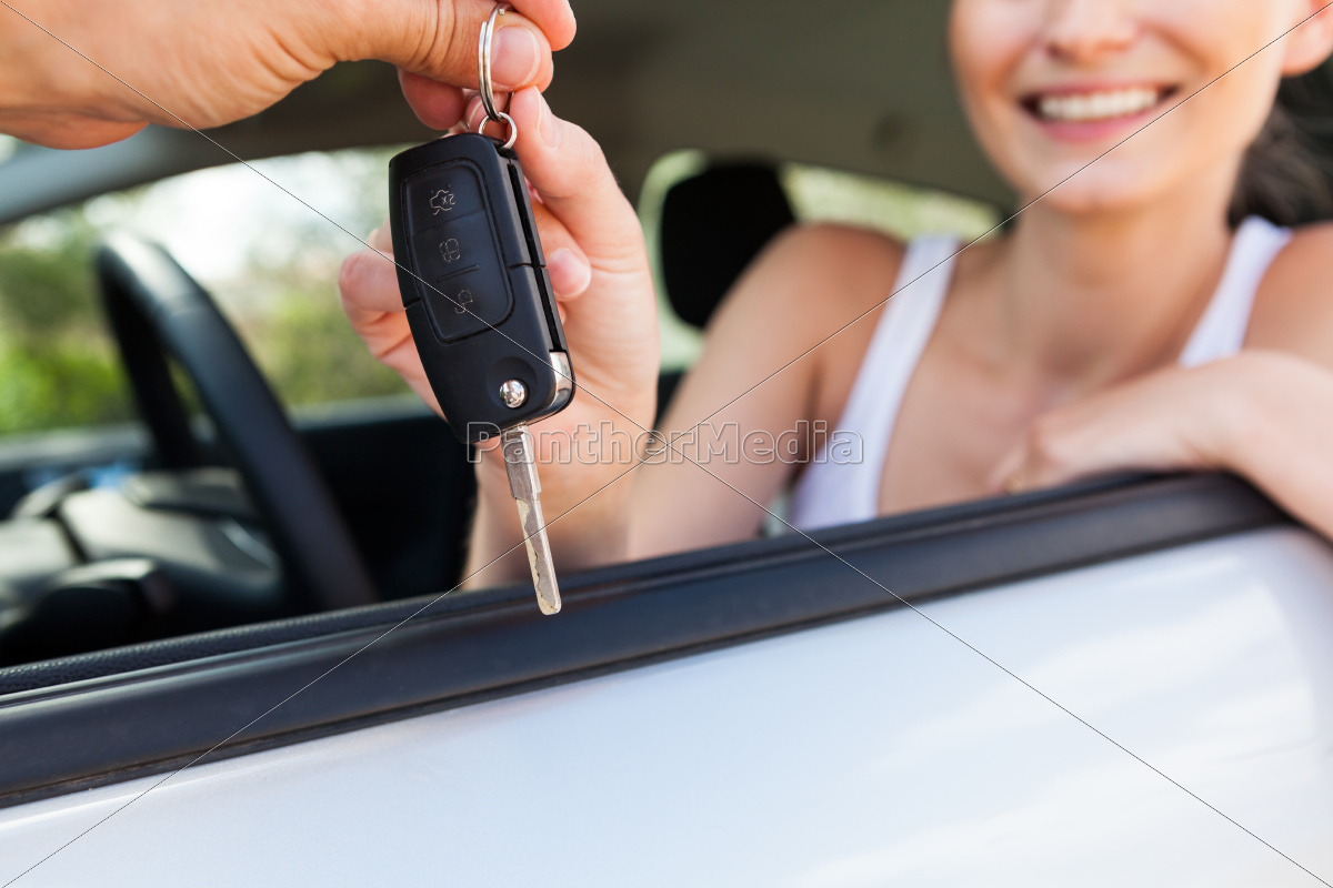 young, woman, in, the, new, car - 10215779