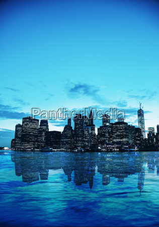 new, york, city, cityscape, at, sunset - 10216655