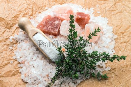 salt with thyme