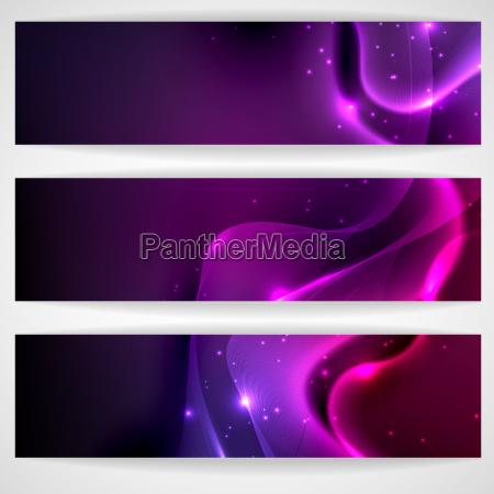 dark purple abstract banner