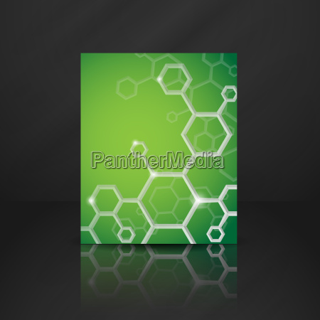 molecule abstract background