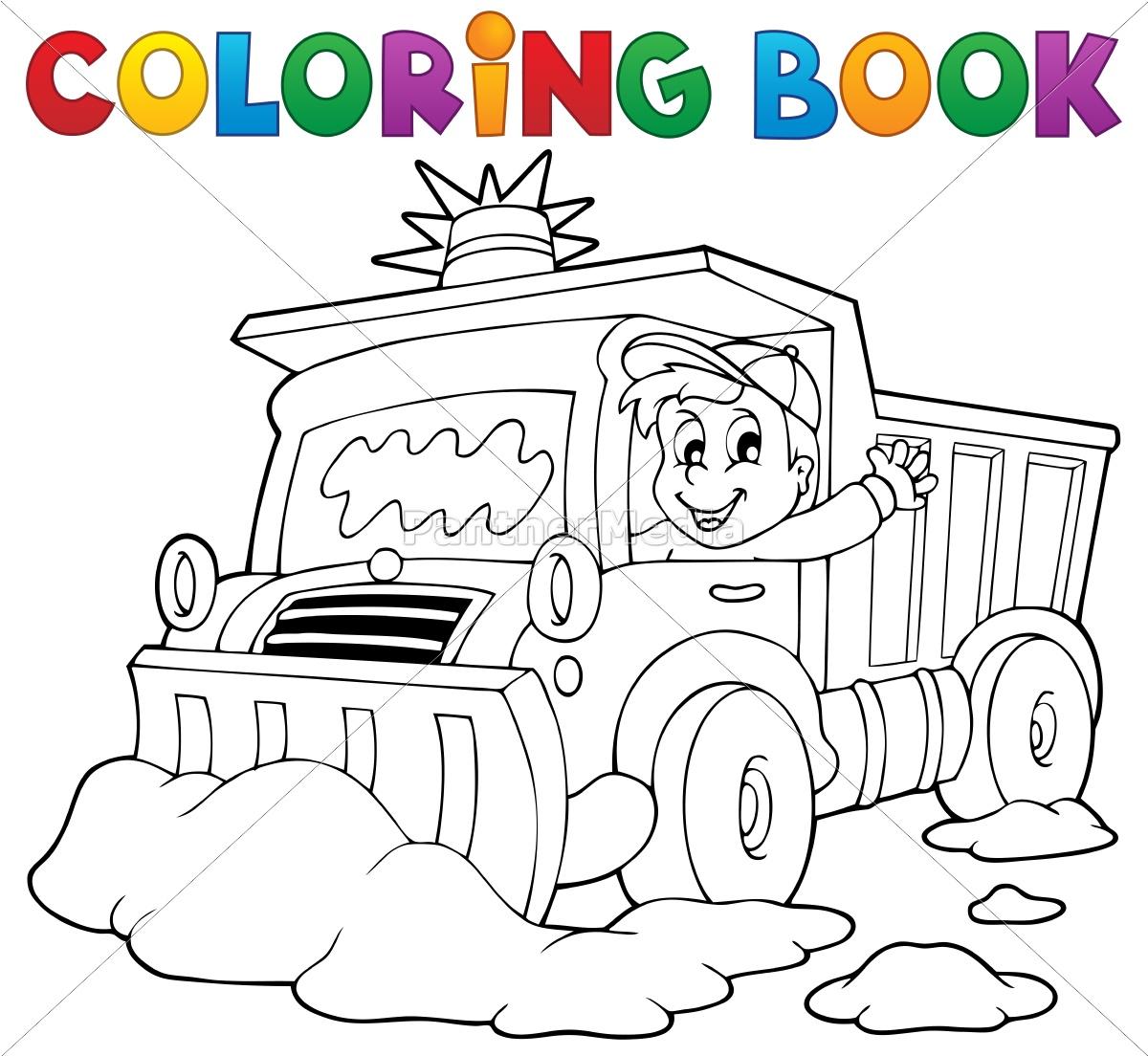 coloring, book, snow, plough - 10221471