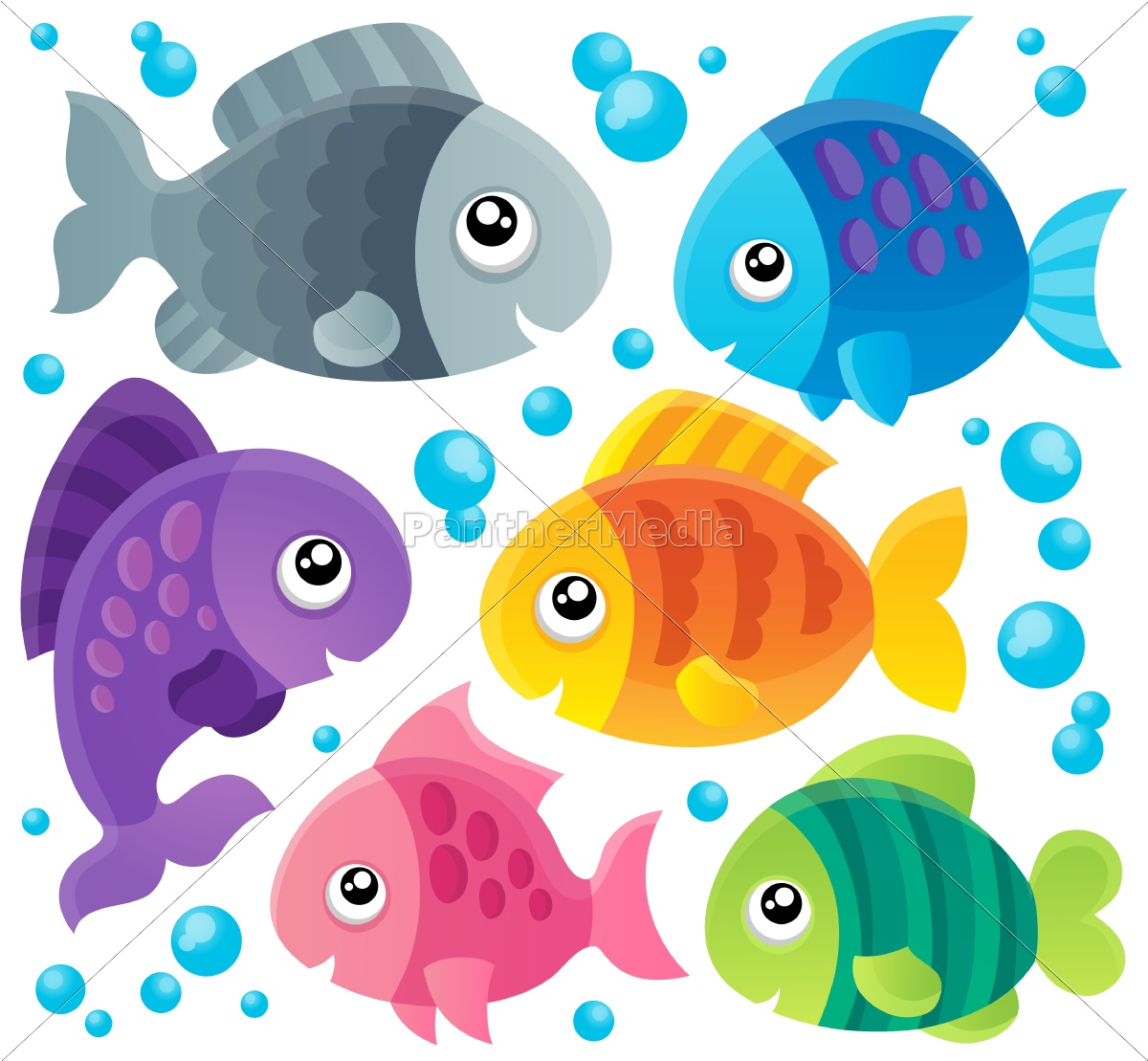 fish, theme, collection, 1 - 10221473