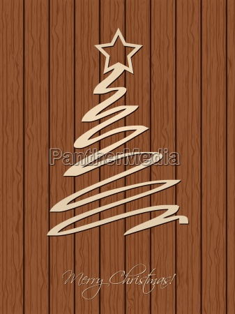 christmas greeting with wooden background