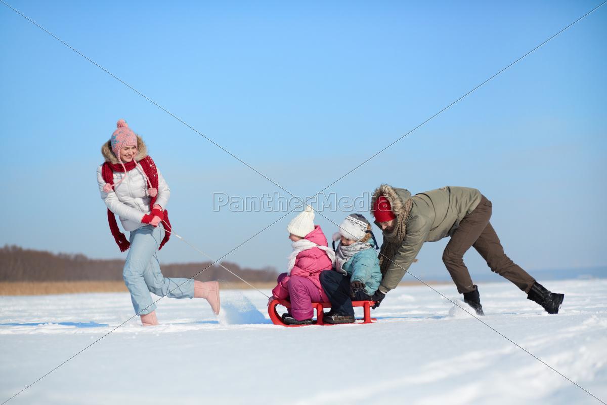 riding, on, sledge - 10227491