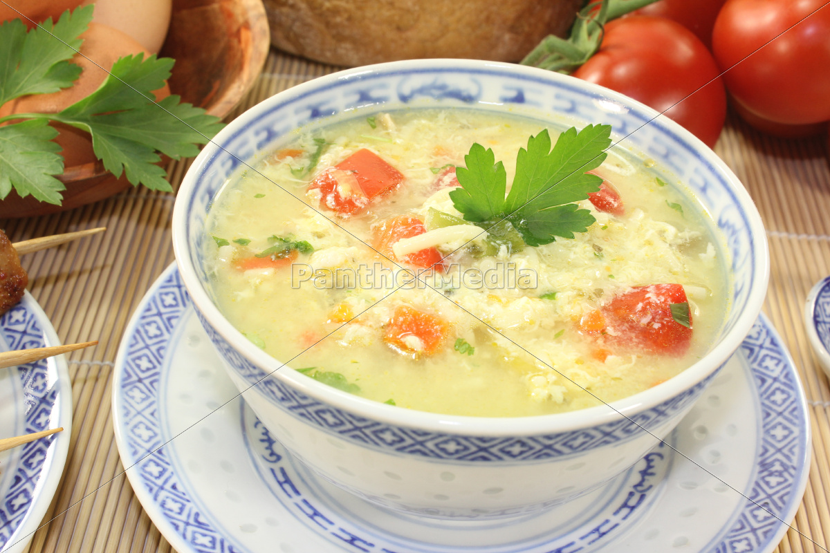 asian, chicken, soup, with, egg - 10228755