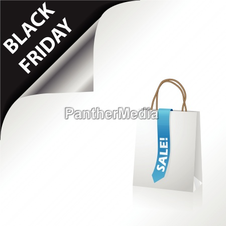 black friday advertisement with shopping bag