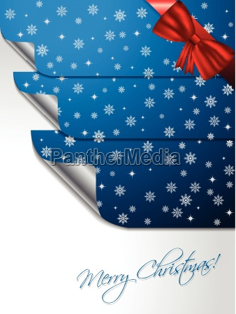 blue greeting card with stickers shaping