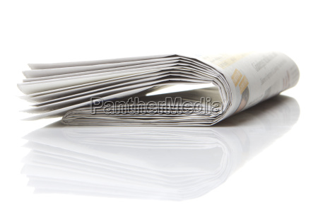 several, newspapers, stacked, with, white, background - 10233953