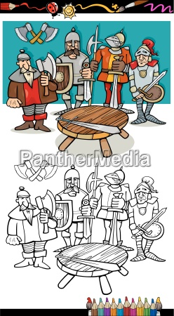 knights of the round table coloring