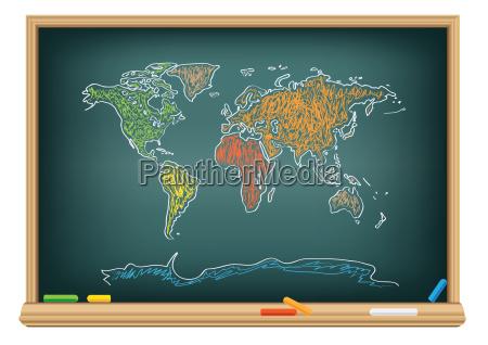 blu lavagna pannello educazione formare educare