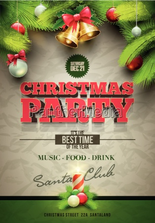 christmas, party, poster - 10242533